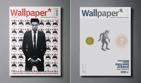 starck and lagerfeld Guest Editor of Wallpaper*