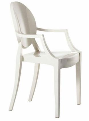 white louis ghost armchair Louis XIV Ghost Armchair