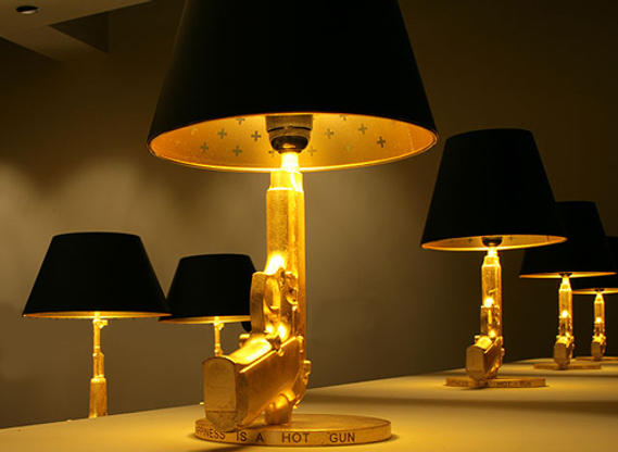 The gun lamp collection for Philippe starck ak table lamp